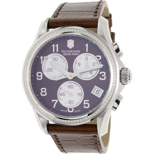 Victorinox Swiss Army Women's 241420 Brown Leather Chronograph Watch - Watches