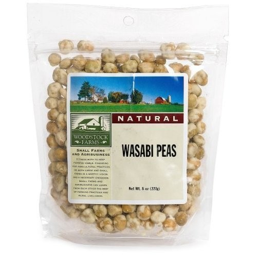 Woodstock Farms Wasabi Peas, Natural, 8-Ounce Bags (Pack of 8) ( Value Bulk Multi-pack)