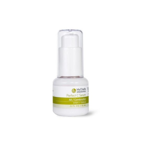 MyChelle Perfect C Serum, Advanced 17% L-Ascorbic Acid Vitamin C Serum for All Skin Types, 0.5 fl oz