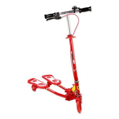 Ferrari Flashing Wheel Frog Scooter in Red