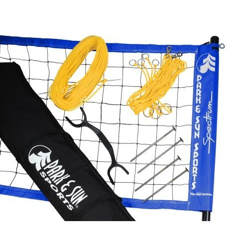 Park & Sun Sports Spectrum 2000: Portable Professional Outdoor Volleyball Net System [Blue]
