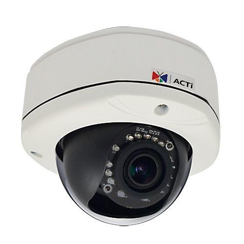 ACTI D82A - Network surveillance camera - dome - outdoor - vandal / weatherproof - color ( Day&Night ) - 3 MP - 2048 x 1536 - 1080p - fixed iris - vari-focal - audio - 10/100 - MJPEG, H.264 - (D82A)