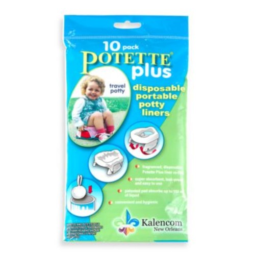 Potette Plus 10-Pack Trainer Seat Liner Refills in Light Blue