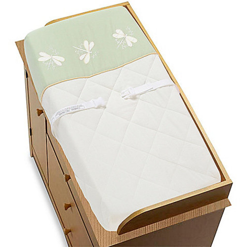 Sweet Jojo Designs Dragonfly Dreams Changing Pad Cover in Green