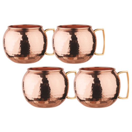 Dutch Solid Copper16 oz. Unlined Pub Style Moscow Mule Mugs (Set of 4)