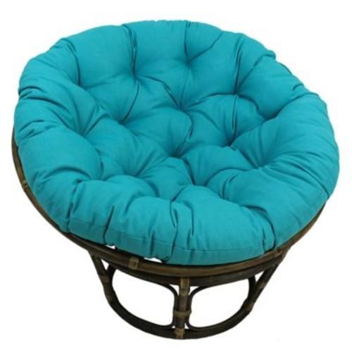 Bungalow Rose Benahid Outdoor Rattan Papasan Chair w/ Cushion; Lime