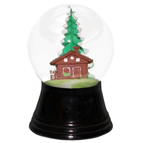 The Holiday Aisle Perzy Chalet Snow Globe