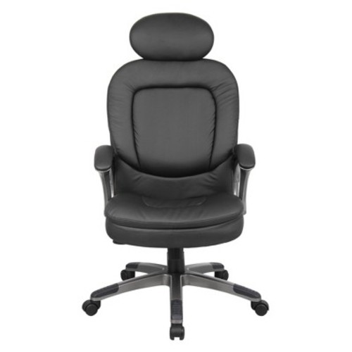Executive Pillow Top Chair with Headrest Black - Boss Office Products