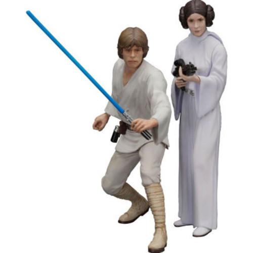 Luke & Leia 2pk ArtFX+ Statues