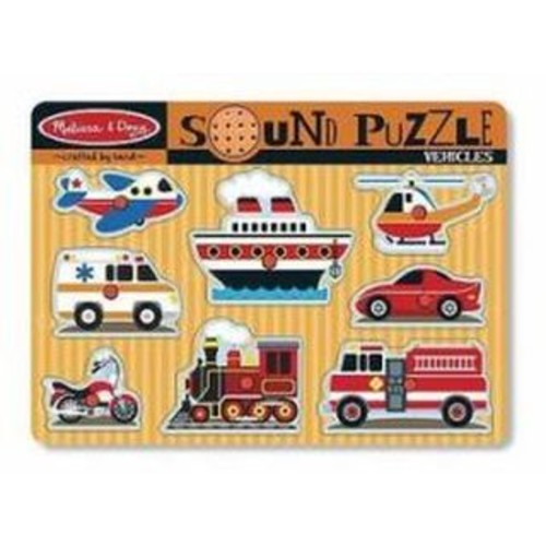 Melissa & Doug Vehicle Sound Peg Puzzle
