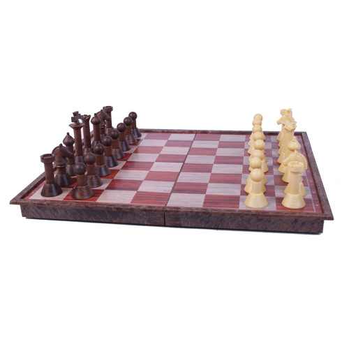 John N Hansen Co Wood Magnetic Chess Set