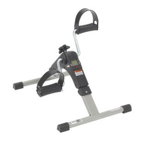 Drive Medical Folding Exercise Peddler With Electronic Display, Black