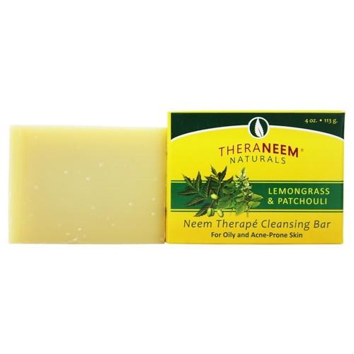 Organix South - TheraNeem Organix Cleansing Bar For Oily & Acne-Prone Skin Lemongrass & Patchouli - 4 oz.