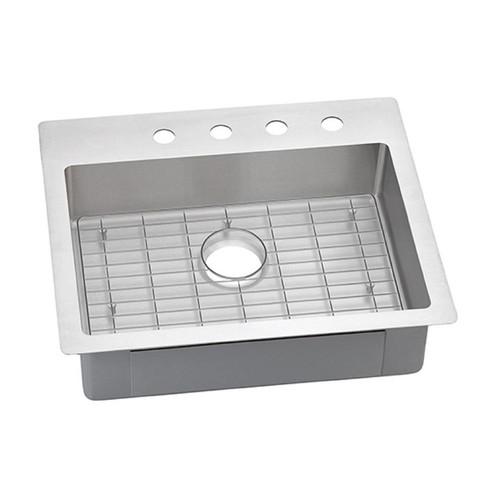 Elkay Crosstown Drop-In/Undermount Stainless Steel 25 in. 1-Hole Single Bowl Kitchen Sink Kit