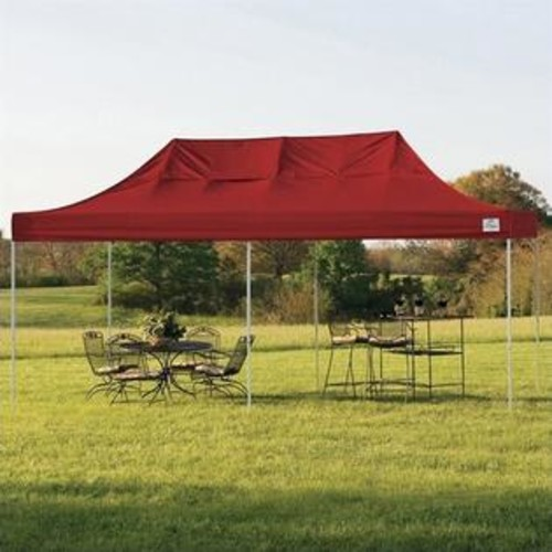 ShelterLogic 10'x20' Pro Pop-Up Canopy Straight Leg with Cover in Red