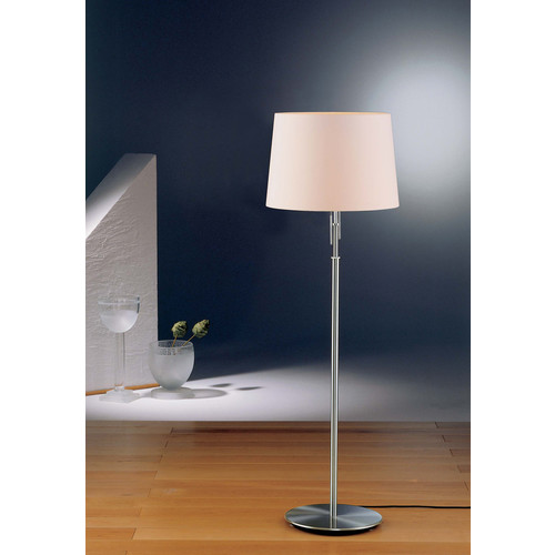 2545 Illuminator Floor Lamp [Shade : SWRG - Satin White; Finish : 2545 SN - Satin Nickel]