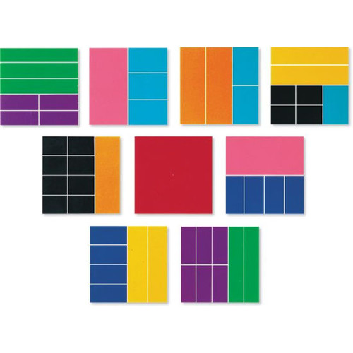 Learning Resources Rainbow Fraction Squares (LRNLER0620)