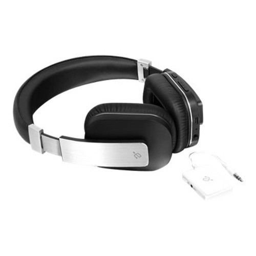 Aluratek ABT01FKIT - Headphones - full size - Bluetooth - wireless - with Bluetooth Universal Audio Transmitter (ABT01FKIT)