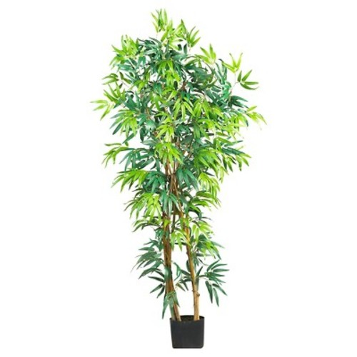 Nearly Natural 5' Curved Bamboo Tree