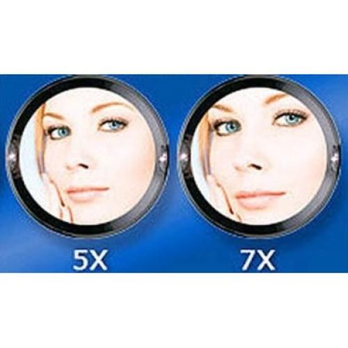 Zadro Oval Tri-Optics Beveled Pedestal Mirror, Chrome