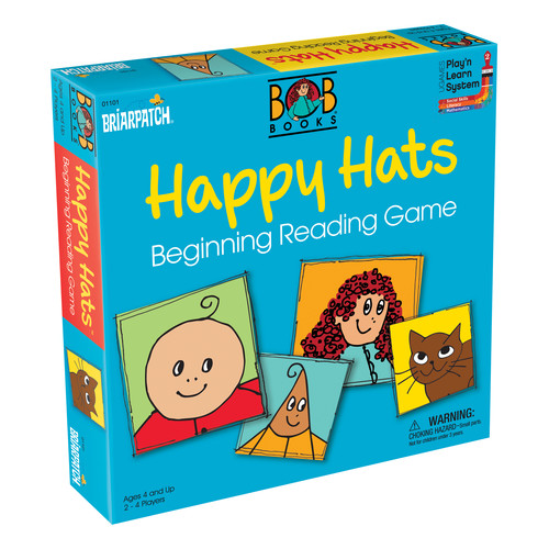 Briarpatch BOB Books Happy Hats Beginning Reading Game