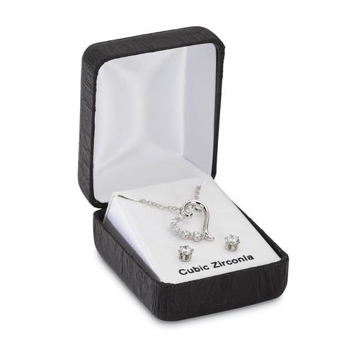 Women's Silvertone Necklace & Earrings
