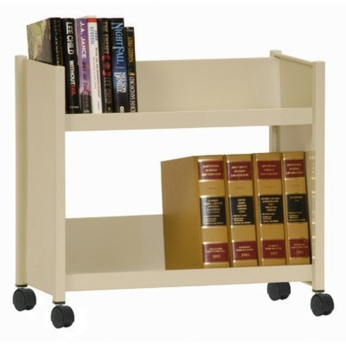Sandusky Lee SR227-07 Book Truck, 18-Gauge Steel Frame, 2 20-Gauge Steel Sloped Shelves, 25