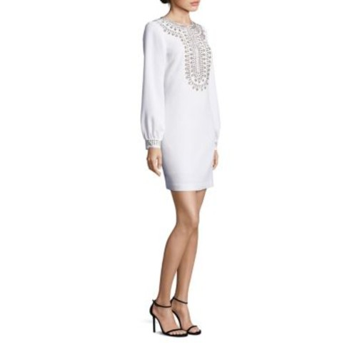 TRINA TURK Kapono Crepe Embellished Dress