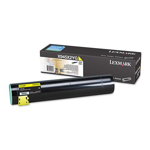 Lexmark LEXX945X2YG X945X2YG High-Yield Toner, 22000 Page-Yield, Yellow