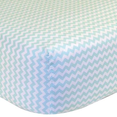 Trend Lab Fitted Chevron Crib Sheet
