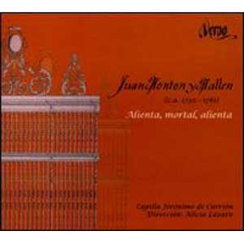 Juan Montn y Malln: Alienta, mortal, alienta By Alicia Lazaro (Audio CD)