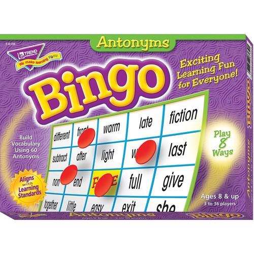 Antonyms Bingo Games Board Game