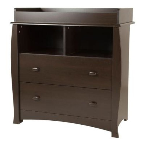 South Shore Beehive Changing Table with Removable Changing Station - Espresso