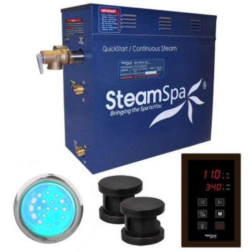 SteamSpa Indulgence 12kW QuickStart Steam Bath Generator Package in Polished Oil Rubbed Bronze