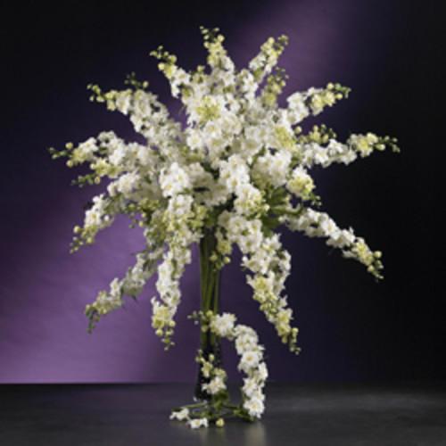 Silk 38-inch Rose/ Delphinium/ Lilac Flower Arrangement [option : Pink]