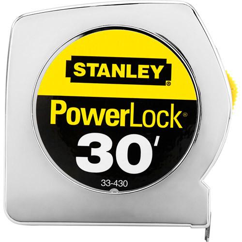 Stanley 33-430 Powerlock 30-Foot-by-1-Inch Measuring Tape [30-Foot]