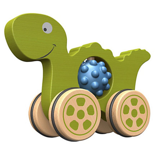 BeginAgain Toys Toddlers Nubble Rumblers Dino Toy - Theme/Subject: Fun - Skill Learning: Tactile Stimulation, Fine Motor, Motor Skills, Grasping
