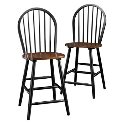 Edge Water Winds Dining Chair (Set of 2) - Estate Black - Sauder