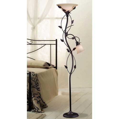 Kenroy Home Ashlen 72 in. Oil-Rubbed Bronze Mother and Son Torchiere