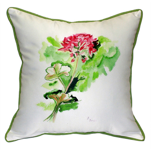 Betsy Drake Interiors Geranium Multicolored Polyester 22-inch x 22-inch Throw Pillow