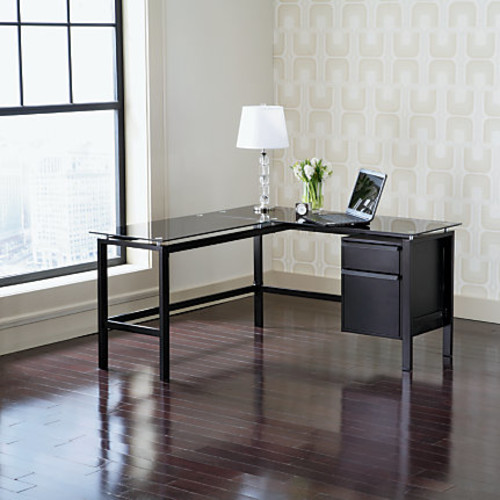 Realspace Lake Point L-Desk, Black