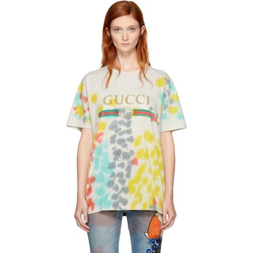 GUCCI Multicolor Tie-Dye Logo T-Shirt