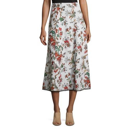 MCQ ALEXANDER MCQUEEN Fluid Floral-Print Midi Skirt, Multipattern