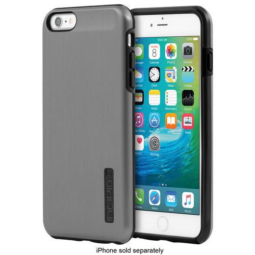 Incipio - DualPro SHINE Case for Apple iPhone 6 Plus and 6s Plus - Gunmetal/Black