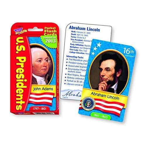 US Presidents Pocket Flash Cards: Toys & Games