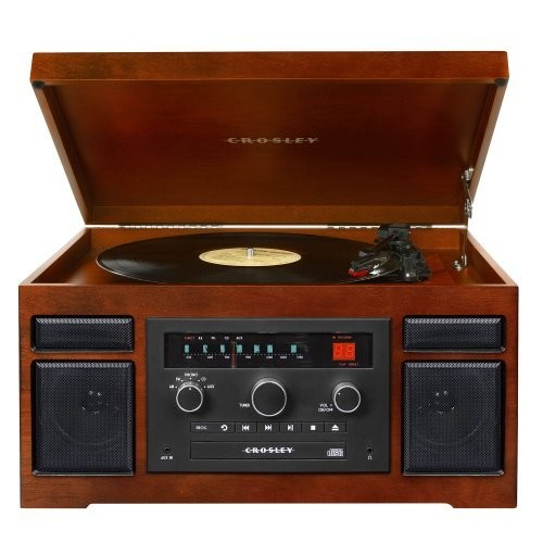 Crosley CR7007A-MA Patriarch Turntable with Radio, CD Player and Aux-In