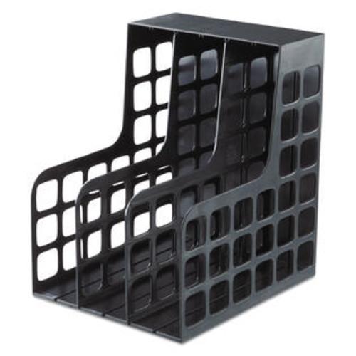 Pendaflex Decorack Plastic Magazine File, Two Snap-In Dividers, 9 X 10 5/8 X 12, Black - PFX23004