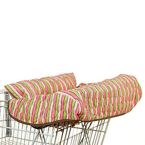 Pam Grace Creations Shopping Cart and High Chair Cover in Stripes