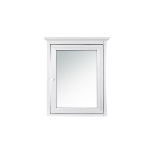 Home Decorators Collection Fremont 24 in. x 30 in. Framed Wall Mirror in White