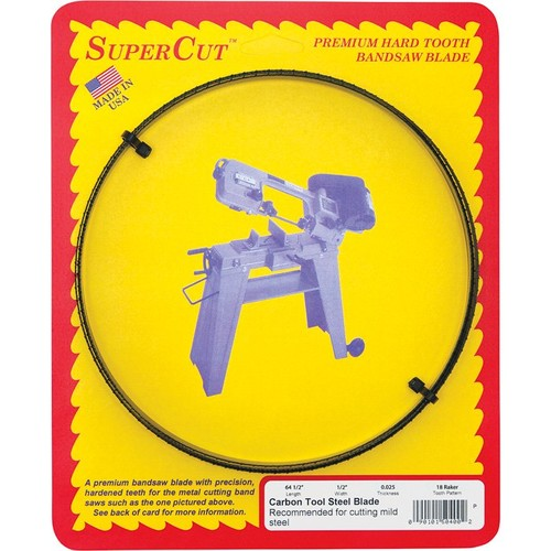 SuperCut Carbon Replacement Band Saw Blade  64 1/2in.L x 1/2in.W, 18 TPI